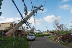 Épave d'ouragan Maria images stock