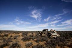 Épave dans le paysage de karoo photos stock