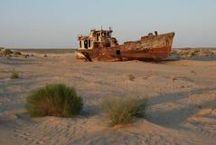 Épave de bateau de Moynaq Image libre de droits