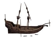 épave de bateau du rendu 3D sur le blanc Image stock