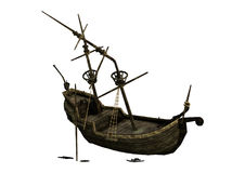 épave de bateau du rendu 3D sur le blanc Photos stock