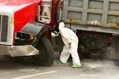 Épave de camion Images libres de droits
