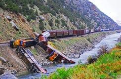 Épave de train Photographie stock libre de droits