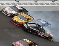 Épave de véhicules chez Daytona Images libres de droits