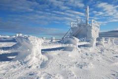 épave gelée Photo libre de droits