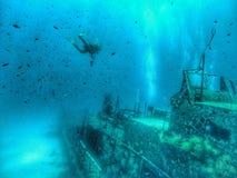 épave sous-marine Images libres de droits