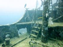 Épave sous-marine de bateau Photographie stock