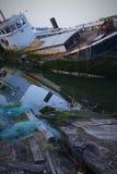 Épaves de bateau photos stock