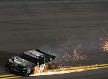 Épaves de Kyle Busch dans Daytona Image stock