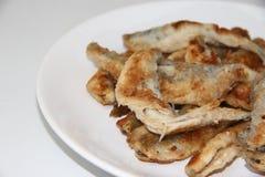 Éperlan frit de poissons du plat Photo stock