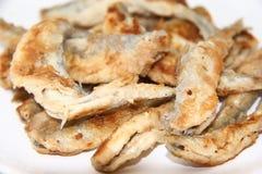 Éperlan frit de poissons du plat Image libre de droits