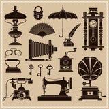 Éphémères de vintage et objets de vieille ère Images libres de droits