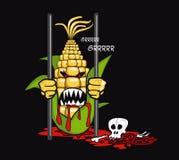 Épi d'OGM de blé Photographie stock libre de droits