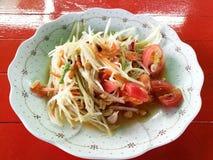 Épicé sévère de salade de papaye Image stock