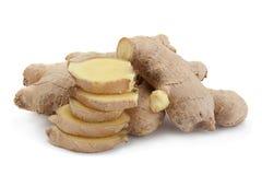 Épice de gingembre sur le blanc Photos stock
