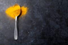 Épice de safran des indes photo stock