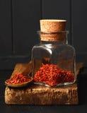 Épice espagnole de safran Images stock