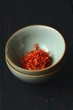 Épice espagnole de safran Photographie stock
