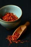 Épice espagnole de safran Photographie stock libre de droits