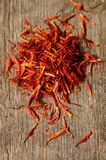 Épice espagnole de safran Image stock