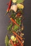 Épice et aromatique mélangés image stock