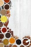 Épice et Herb Abstract Border Photo stock