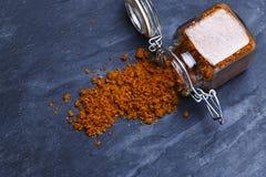 Épice géorgienne traditionnelle d'assaisonnement de sel de Svan Photographie stock libre de droits