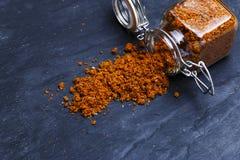 Épice géorgienne traditionnelle d'assaisonnement de sel de Svan Image stock