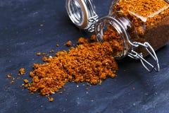Épice géorgienne traditionnelle d'assaisonnement de sel de Svan Photographie stock