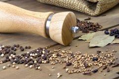 Épice sur la table en bois Photos stock