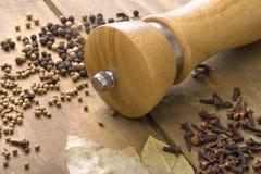 Épice sur la table en bois Image stock
