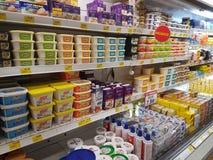 Épicerie à l'hypermarché géant, Malaisie Photographie stock