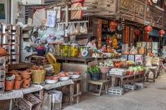 Épicerie au marché de gens du pays de la Thaïlande Photo stock