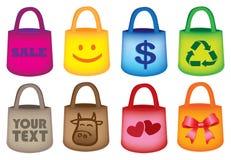 Épicerie colorée Tote Bags illustration de vecteur