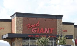 Épicerie de géant de nourriture images stock