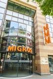 Épicerie de Suisse de Migros Photographie stock libre de droits