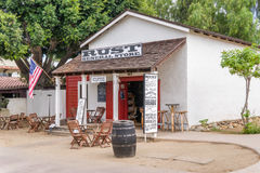 Épicerie générale de rouille à la vieille ville San Diego State Historic Park Image libre de droits