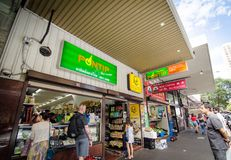 Épicerie thaïlandaise de ville sur Campbell Street Photographie stock