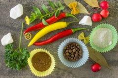 Épices d'Ipripravy pour la cuisson Photographie stock