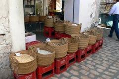 Épices d'offre en Médina Photo libre de droits