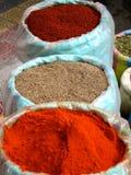 Épices du marché d'Otavalo en Equateur Images libres de droits