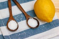 Épices et assaisonnements Image d'acide citrique photographie stock