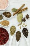 Épices et graines entières Images stock