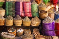 Épices et herbes marocaines Photographie stock libre de droits