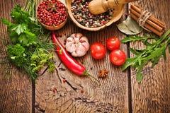 Épices et ingrédients Images stock
