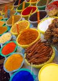 Épices et teintures Image libre de droits
