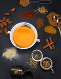 Épices et thé Photos libres de droits