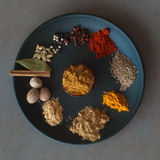 Épices indiennes Photos libres de droits