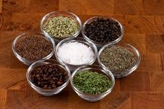 Épices indiennes photos stock
