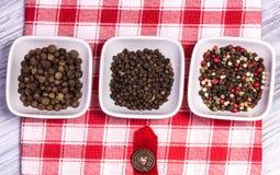 Épices, poivre amer et doux Photos libres de droits
